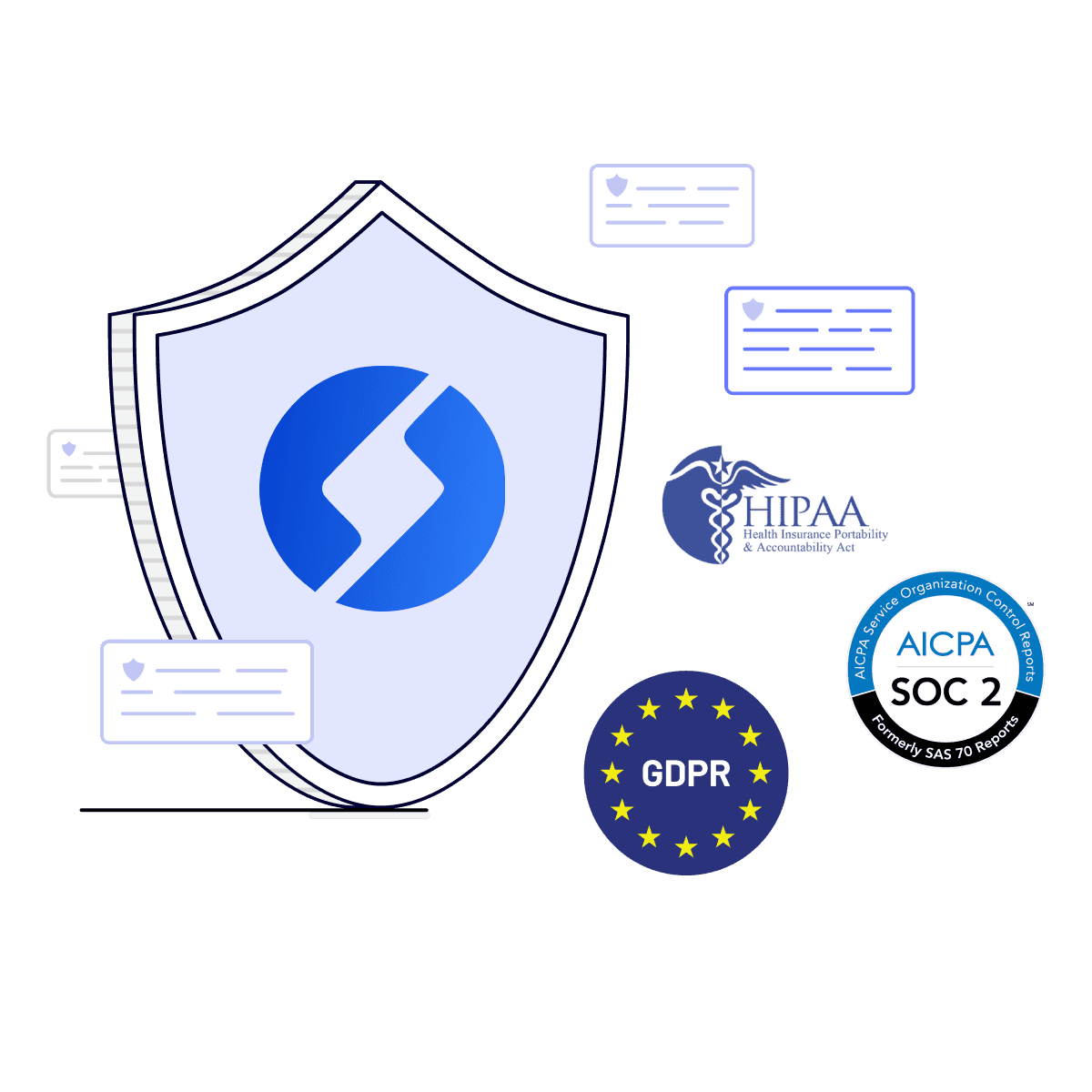 Samespace offers application security at the highest level, & GDPR and SOC 2 compliance is a given.